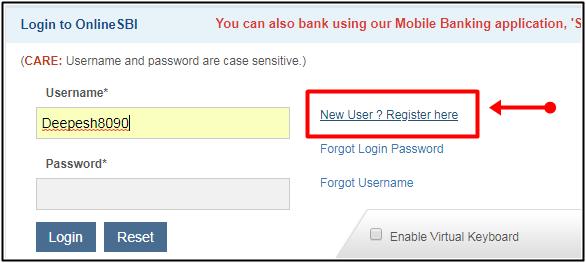 New user registration