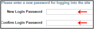 new login and password