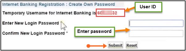 user id and password