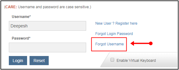 username forget