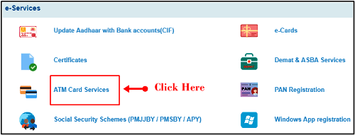 SBI Atm Card Service