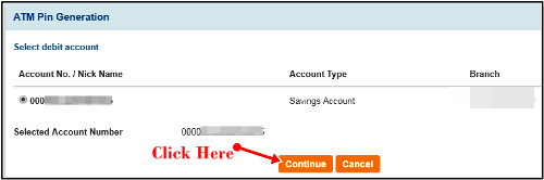 account number choose