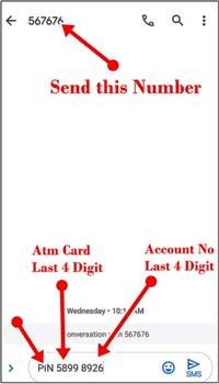 debit card pin generation by msg